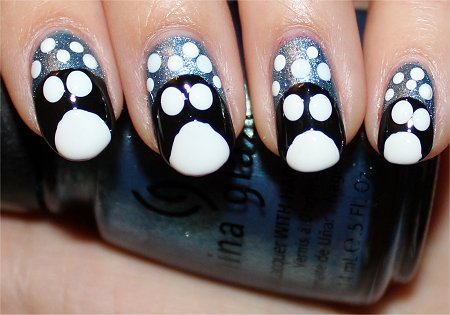 Penguin Nails Nail Art Tutorial Step 6
