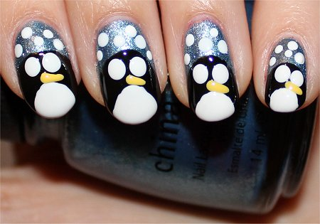 Penguin Nails Nail Art Tutorial Step 7