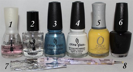 Penguin Nails Nail Art Tutorial Supplies