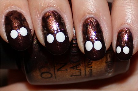 Reindeer Nails Nail Art Tutorial Step 5