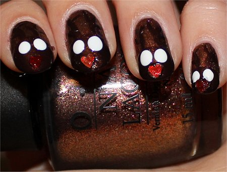 Reindeer Nails Nail Art Tutorial Step 6