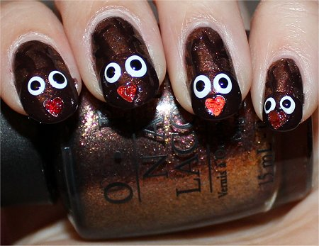 Reindeer Nails Nail Art Tutorial Step 7