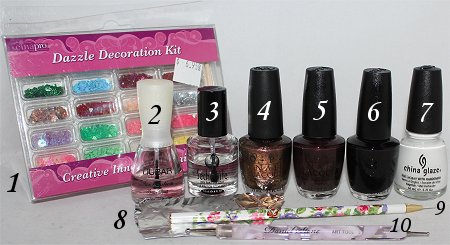 Reindeer Nails Nail Art Tutorial Supplies