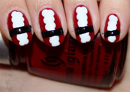 Santa Nails Nail Art Tutorial Step 4