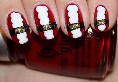 Santa Nails Nail Art Tutorial Step 5
