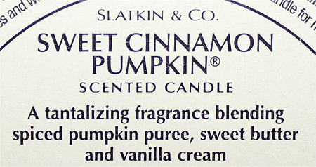 Slatkin & Co. Sweet Cinnamon Pumpkin Candle Review & Photos B&BW