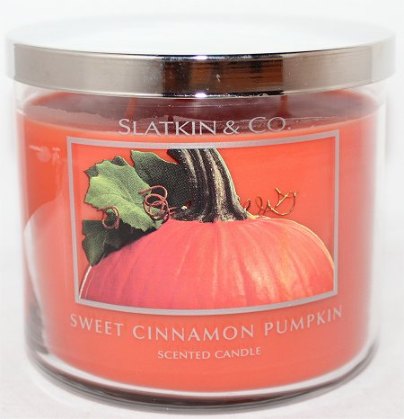 Slatkin & Co. Sweet Cinnamon Pumpkin Candle Review & Pictures Bath & Body Works