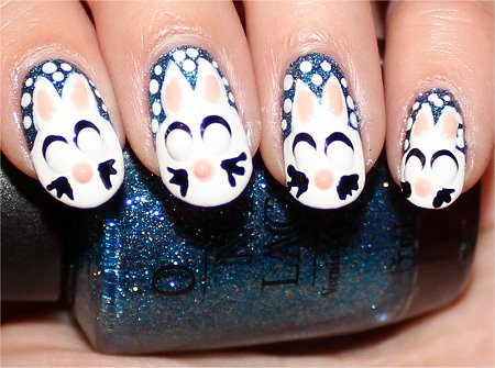 Snow Bunny Nails Nail Art Tutorial Step 10