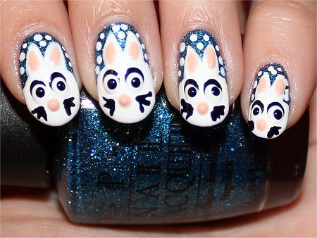 Snow Bunny Nails Nail Art Tutorial Step 11