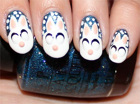 Snow Bunny Nails Nail Art Tutorial Step 9