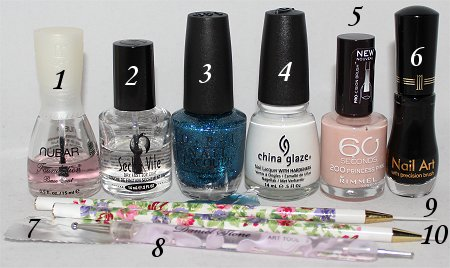 Snow Bunny Nails Nail Art Tutorial Supplies