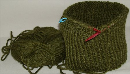 Starting to Knit a Winter Hat