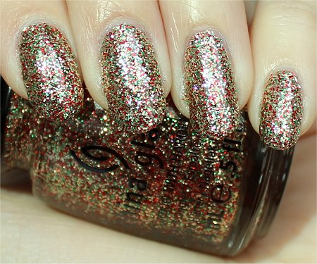 Sunlight China Glaze Twinkle Lights Review & Swatches Let It Snow Holiday Collection 2011