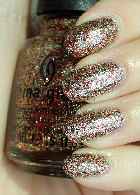 Sunlight China Glaze Twinkle Lights Swatches & Review Let It Snow Collection 2011