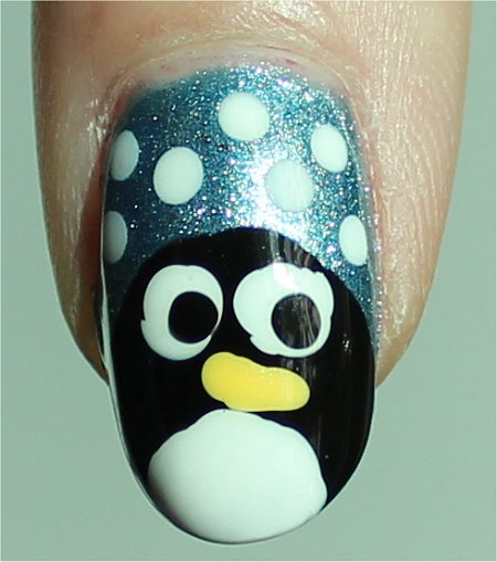 Sunlight Easy Penguin Nail Art Tutorial & Swatches