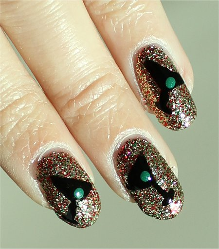 Sunlight New Years Eve Nails Nail-Art Tutorial & Pictures