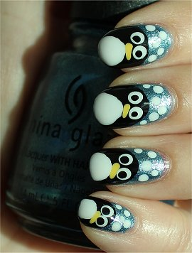 Sunlight Penguin Nails Nail Art Tutorial & Swatches