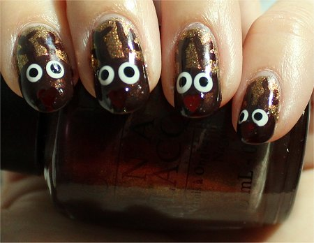 Sunlight Rudolph Nail Art Nails