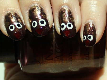 Sunlight Rudolph Nails Nail Art Tutorial & Swatches