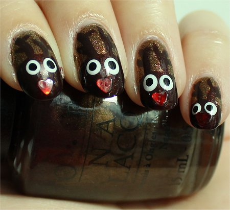 Sunlight Rudolph Nails Nail-Art Tutorial