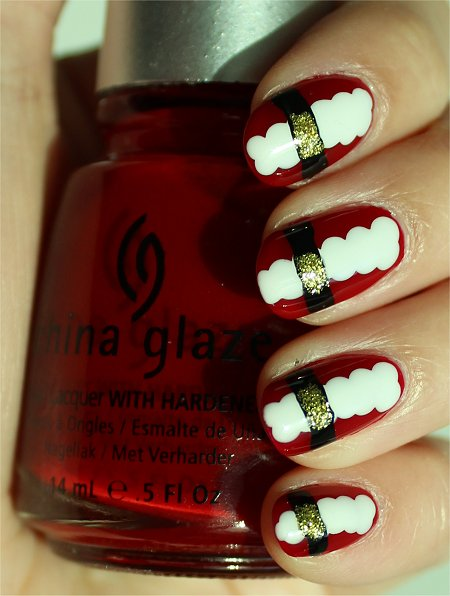 Sunlight Santa Nails Nail Art Tutorial, Swatches & Pictures