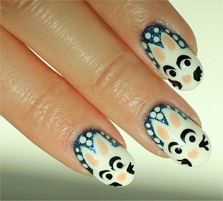 Sunlight Snowbunny Nails Nail-Art Tutorial & Instructions