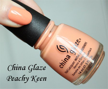 China Glaze Peachy Keen Review, Swatch &amp; Bottle Pictures