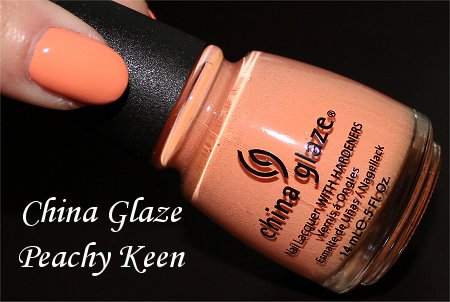 China Glaze Peachy Keen Review, Swatches & Bottle Pictures