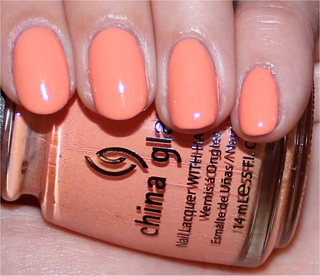 Flash China Glaze Peachy Keen Up & Away Collection Swatches & Pictures