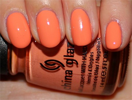 Flash China Glaze Up & Away Peachy Keen Swatches & Review