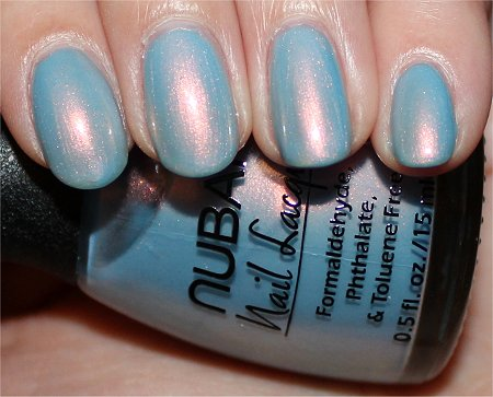 Flash Nubar Duochrome Nail Polish Midnight Glory Swatch & Review