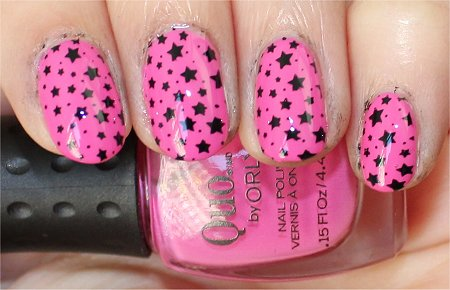Flash Starry Nails Nail Art Konad m84 Image Plate Review & Pictures