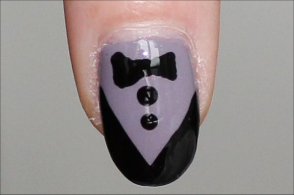 Flash Tuxedo Nails Nail-Art Tutorial & Pics
