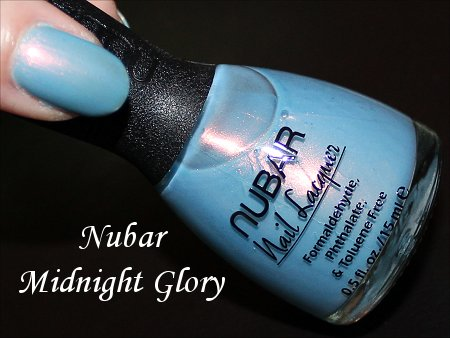 Midnight Glory Nubar Swatches, Review & Bottle Pictures