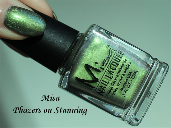 Misa Phazers on Stunning Nail Polish Swatches & Bottle Pictures