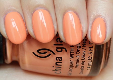 Natural Light China Glaze Peachy Keen Swatch &amp; Pictures
