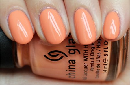 Natural Light Peachy Keen by China Glaze Swatch & Review