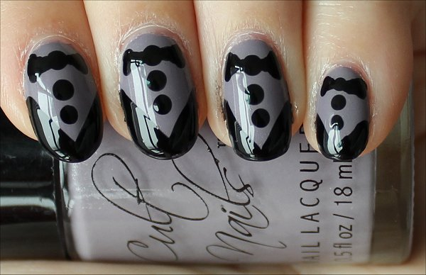 Natural Light Tuxedo Nails Nail Art Tutorial Pictures