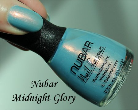 Nubar Midnight Glory Swatch, Review & Bottle Pictures