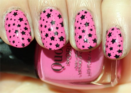 Sunlight Pink & Black Star Konadicure Swatches & Pictures
