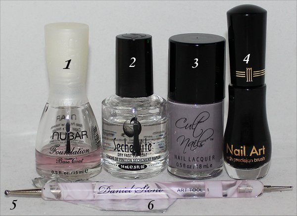 Tuxedo Nail Art Tutorial Supplies & Pictures