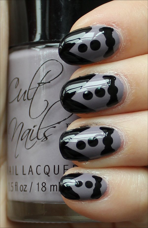 Tuxedo Nails Nail Art Tutorial & Pictures