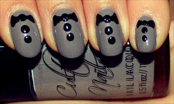 Tuxedo Nails Nail Art Tutorial Step 4