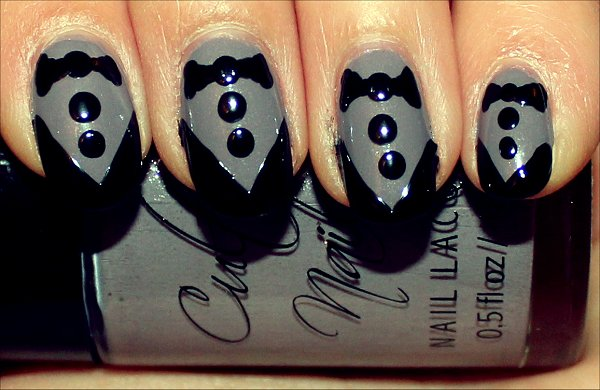 Tuxedo Nails Nail Art Tutorial Step 5