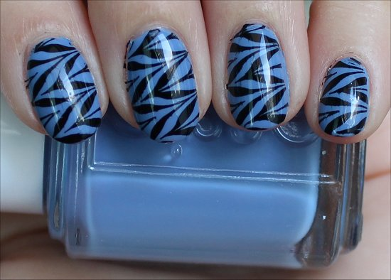 Black & Blue Konadicure Essie Lapis of Luxury Swatches & Pictures