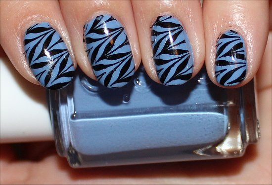 Black Blue Konadicure Nail Art