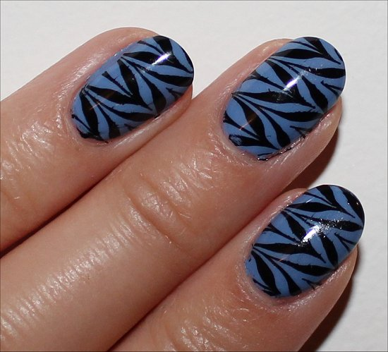 Black & Blue Nail Art Konadicure Pictures