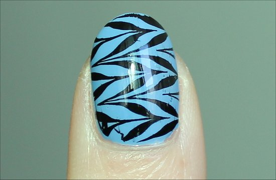 Black and Blue Konadicure Nail Stamping Konad Image Plate m78 Pictures & Review