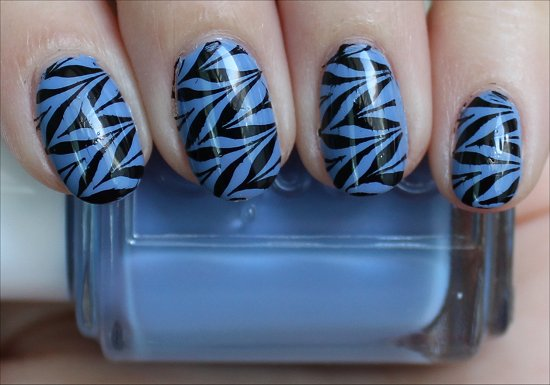 Blue & Black Konadicure Essie Lapis of Luxury Pictures & Review