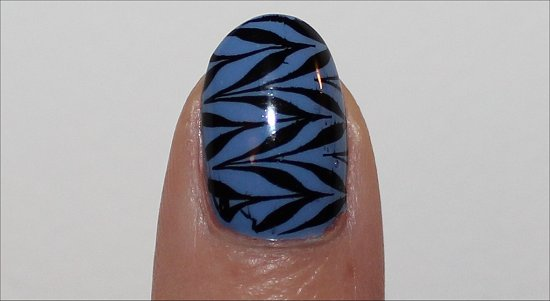 Blue & Black Nail Art Konadicure Image Plate m78